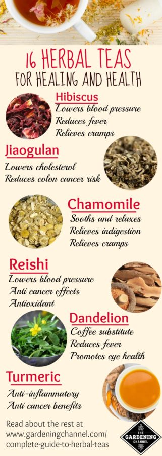 Herbal teas for healing and health