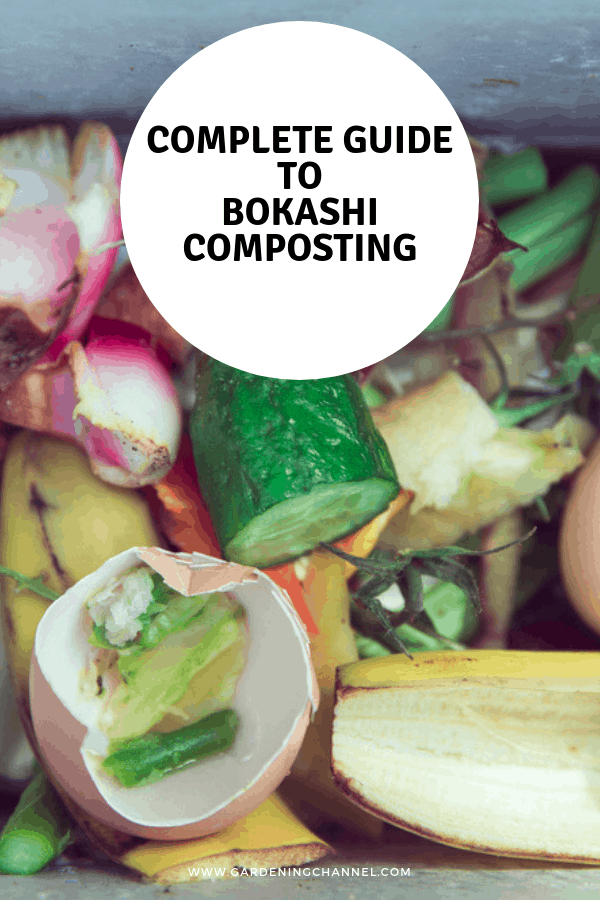 indoor compost scraps with text overlay complete guide to bokashi composting