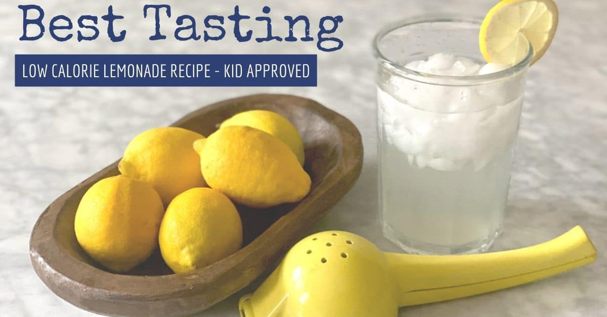 Low Calorie Lemonade Recipe That's Kid Approved for Great Taste