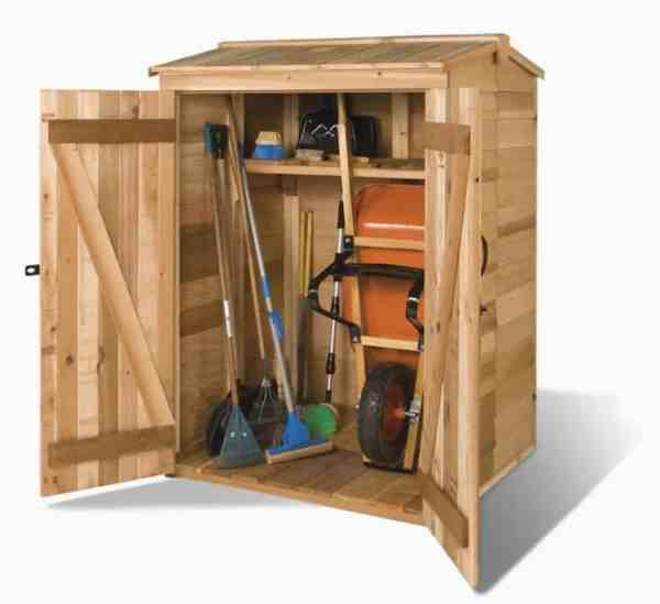 lowes cedar garden shed