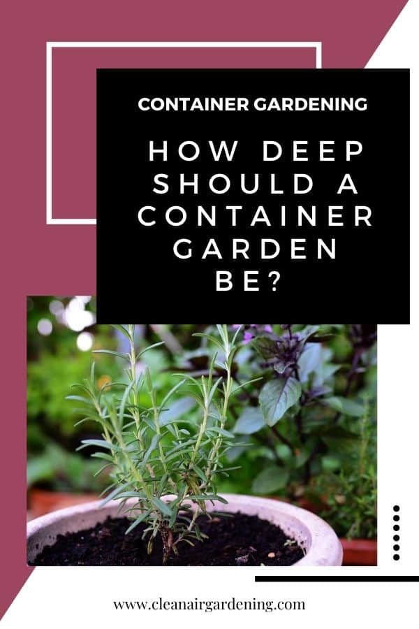 herb containers with text overlay container gardening how deep should a container garden be