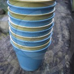Bamboo plant pots