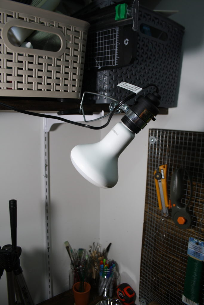 Flood light with LED bulb equivalent to 75w