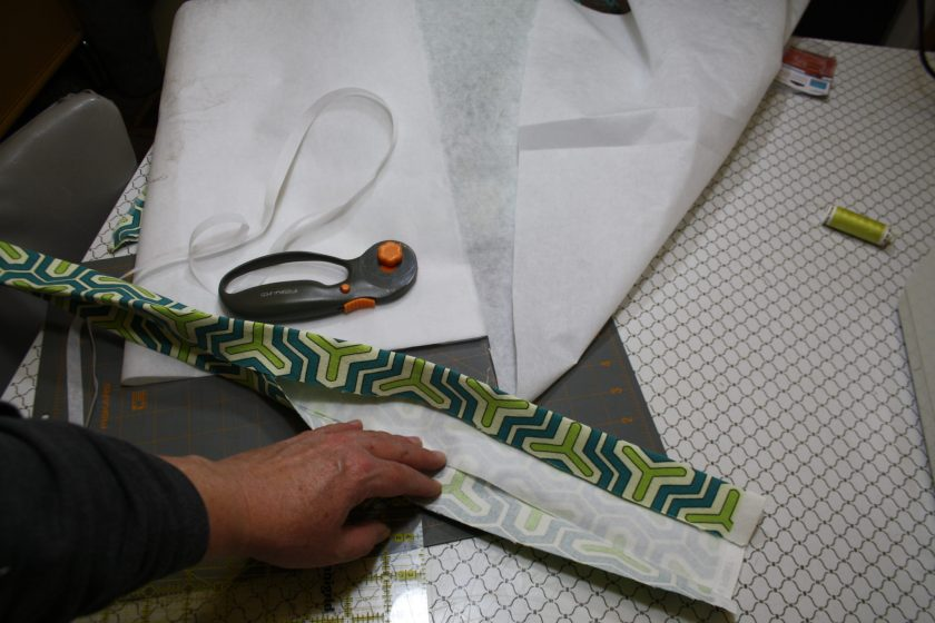 Making strap from fabric