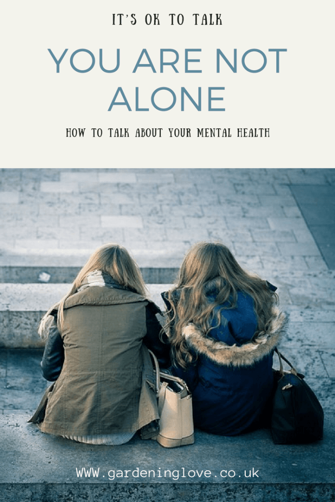 It is ok to talk about your mental health. You are not alone. How to talk about your mental health. Mental health help.