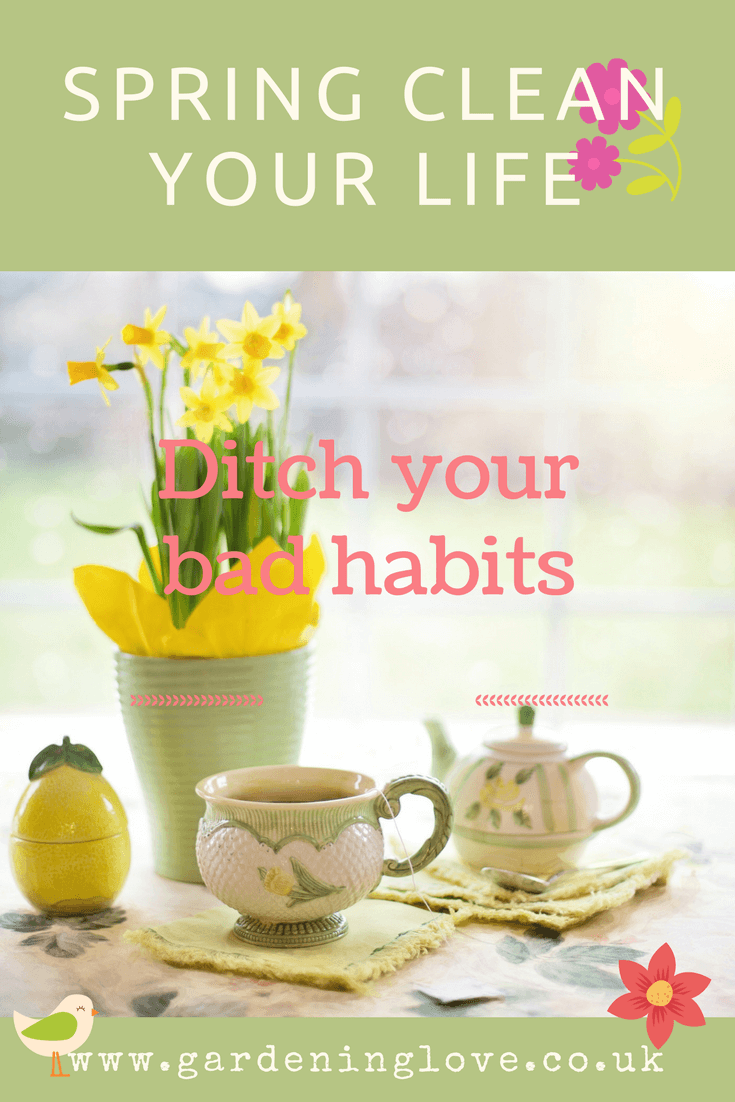 Springtime is the time for change and spring cleaning your life. Ditch the bad habits and spring clean your life.