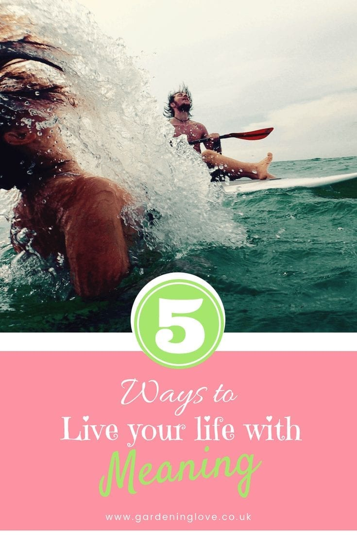 We dream of living our lives with purpose and meaning. It's easy to fall off track. Get back in the game of life with 5 ways to live your best life with meaning. #inspiriation #lifehacks #bestlife #loveyourself #selfcare