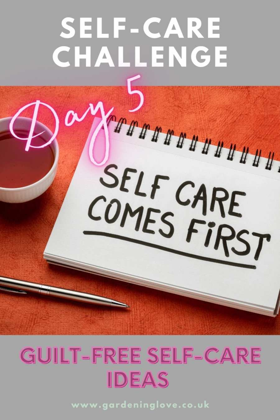 Guilt free self care ideas. Self-care isn't selfish. #selfcare