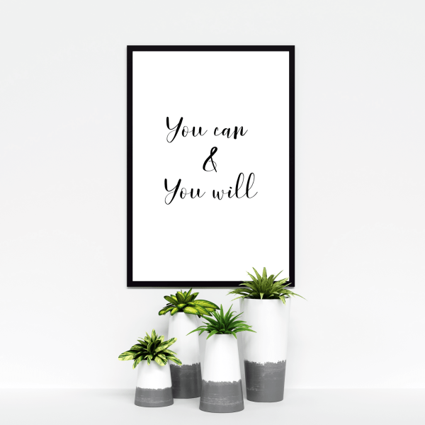 You Can & You Will Instant Digital Download