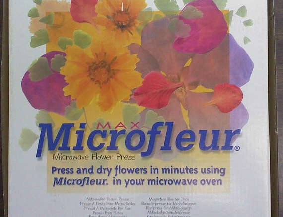 9 x 9 microfleur microwave flower press