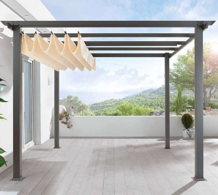 DIY Pergola Kit Canopy Included Gardenista