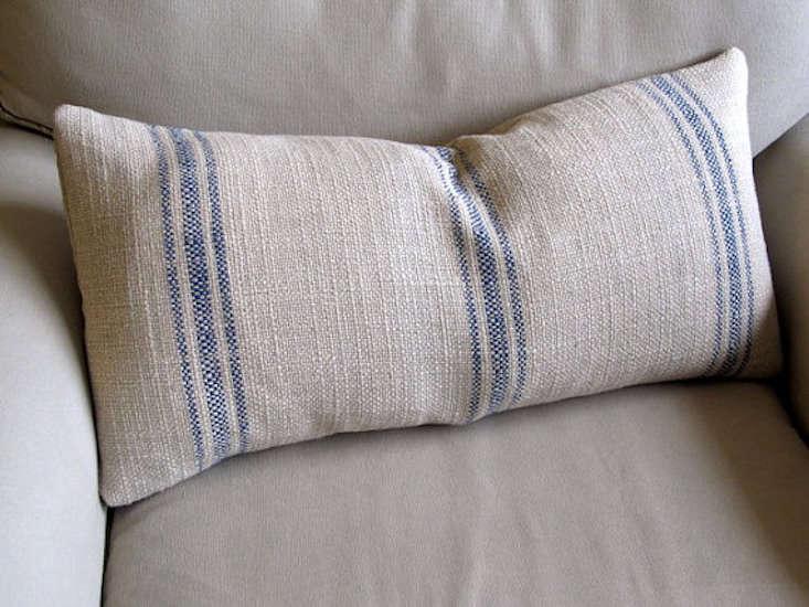 french laundry grain sack pillow