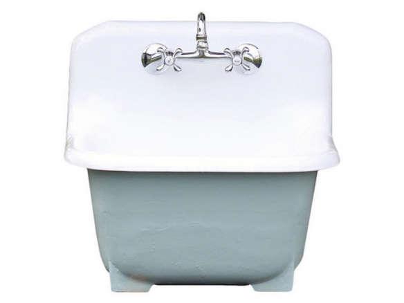 https www gardenista com products deep basin cast iron porcelain farm utility sink