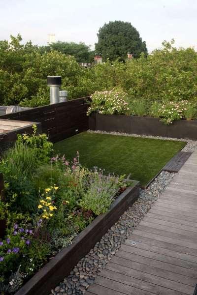 rooftop garden Landscape Design: 10 Simple Layouts for Summer Roof