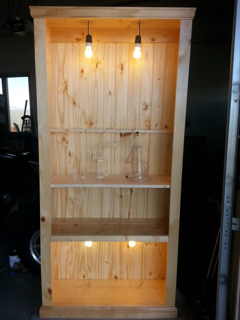 Build An Industrial Traditional Rustic Bookcase Part 1