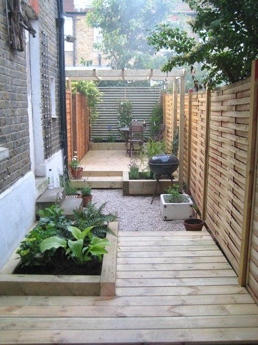 Creative ideas for a long narrow garden design ... on Long Patio Ideas id=20931