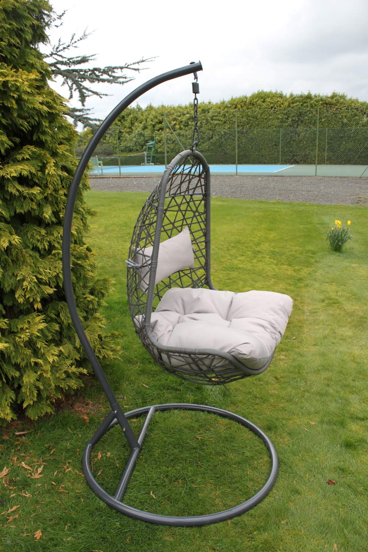 Verona Hanging Garden Chair Wicker Egg Garden Chair In Grey D044 Garden Market Place