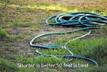 best size for metal garden hose is 50 feet