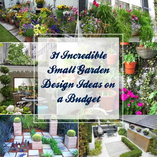 31 Incredible Small Garden Design Ideas on a Budget ... on Garden Design Ideas On A Budget  id=77198