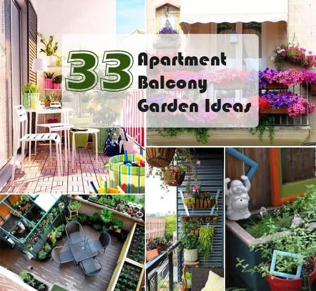 33 apartment balcony garden ideas that