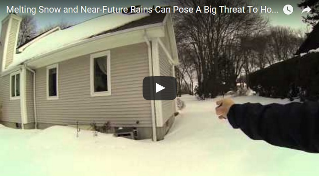 Snow Can Block Water Flow Around Home