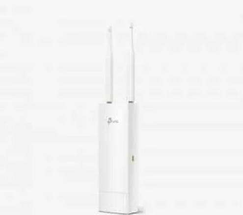 Outdoor access point for Wi-Fi in a garden.