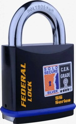 Federal lock for shed