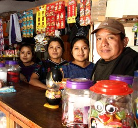Micro-loans help families start small businesses.