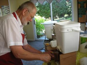 Honey extraction workshop