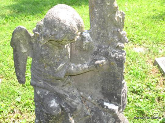 A child's tombstone.