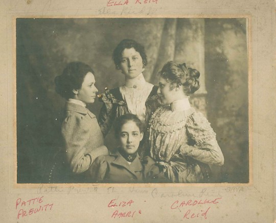 This family photo has not only the handwriting of my great-great-grandmother, but also my father.