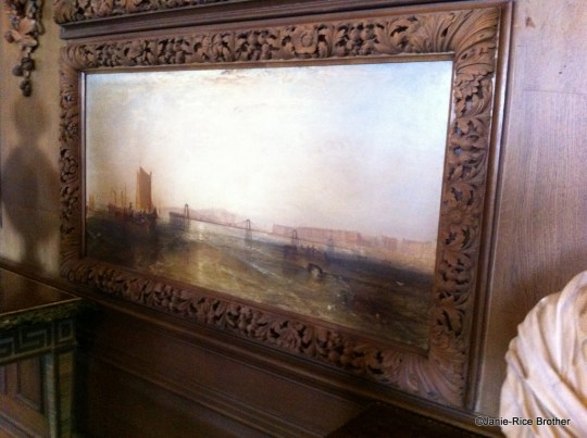 One of the Turner paintings in the Carved Room at Petworth is The Chain Pier, Brighton (c.1828)