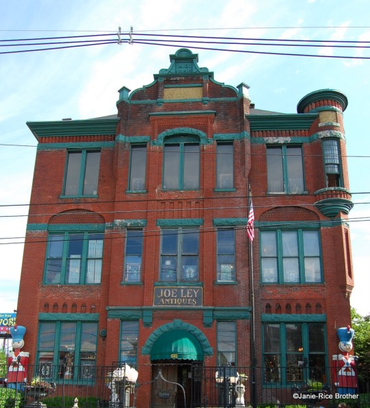 Built in 1890 as Hiram Robert's Normal School, this giddily Victorian building in Louisville is better known as the home of Joe Ley Antiques on Market Street.