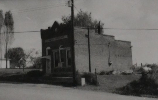 The Moorefield Bank in better days, circa 1980. At that time, it housed a beauty salon.