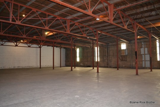 The interior of the Harpring Warehouse.