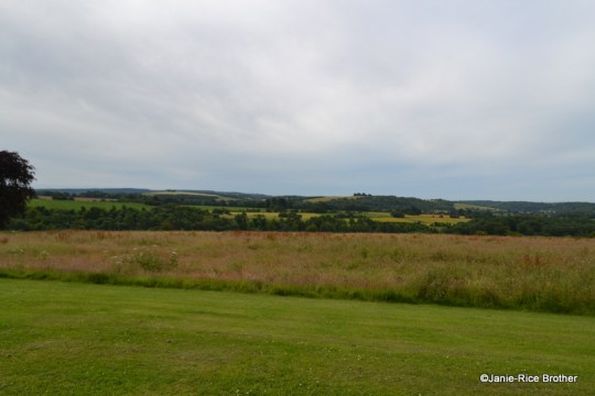 Looking out over the Downs from the south front of Uppark.
