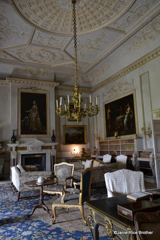 The Saloon originally functioned as a marble-floored entrance hall, but during the residence of Sir Matthew Fetherstonhaugh (who bought Uppark in 1747)  it became a drawing room. Sir Harry and his dairy maid were married in this room.