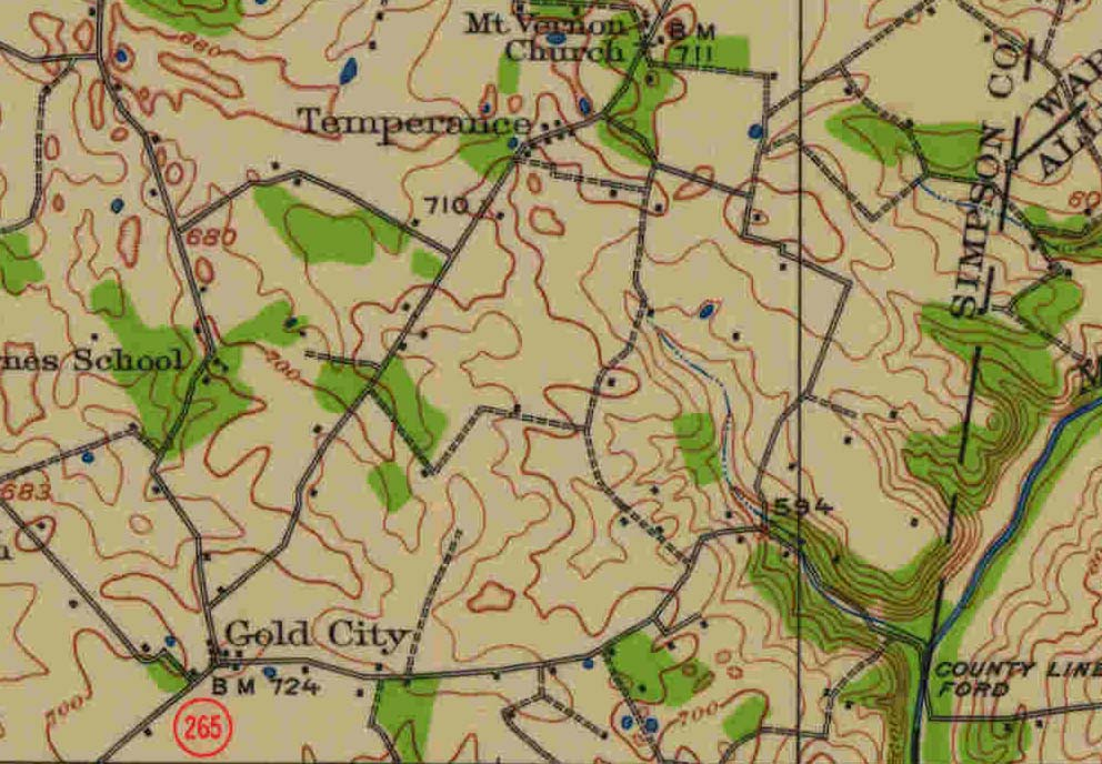 There's Gold in Those Rocks! Gold City, Simpson County