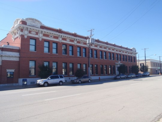 The Bourbon Stockyards Exchange Building dates to 1914.