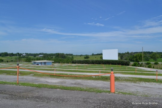The Bourbon Drive-In (Paris, Bourbon County, Kentucky) perfectly illustrates the key characteristics of a drive-in theater.