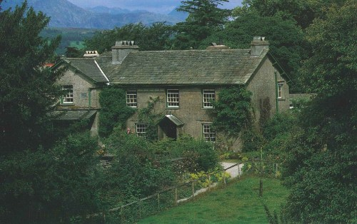 A National Trust postcard view of Hill Top Farm.
