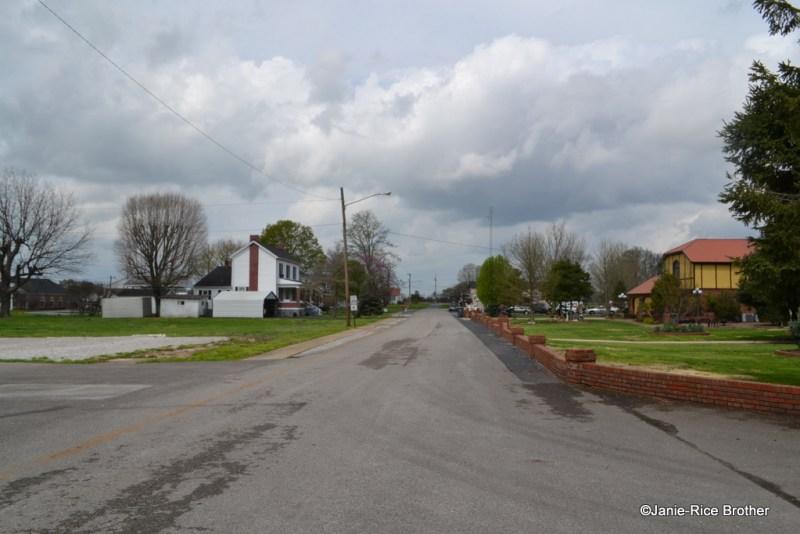 Looking northeast up Main Street, toward Route 240 (Woodburn Allen Springs Road).