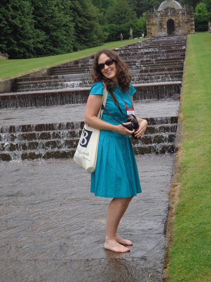 Cooling off in the fountains at Chatsworth. I am sure the Duchess of Devonshire did the same sometimes...