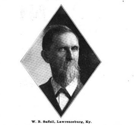 Mr. Saffell, as depicted in the 1903 edition of the Wine and Spirit Bulletin.