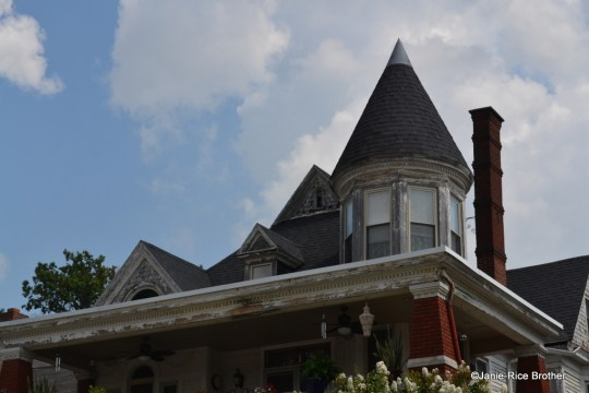 The exubernat roofline of this Owensboro house remains true to its late-19 century roots, despite the addition of the two-story porch.