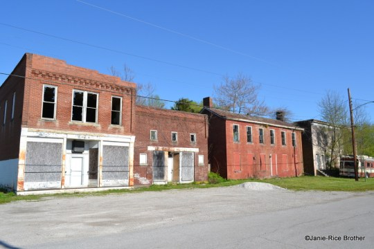 The ghost block of downtown Dover, Kentucky.