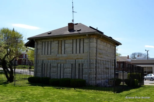 The circa 1880 stone jail in Carrollton, Kentucky.