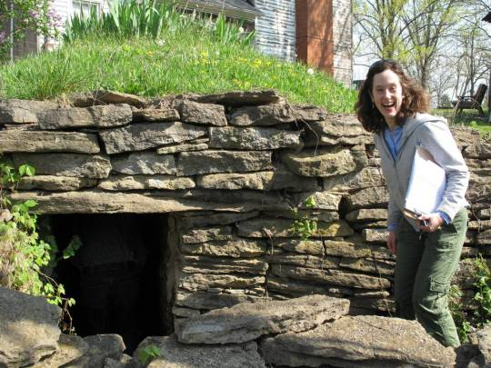 Yay! I found a root cellar. In the field, Franklin County, Kentucky.