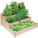 Greenes 4ft. x 4ft. x 21 in. Tiered Cedar Raised Garden Bed