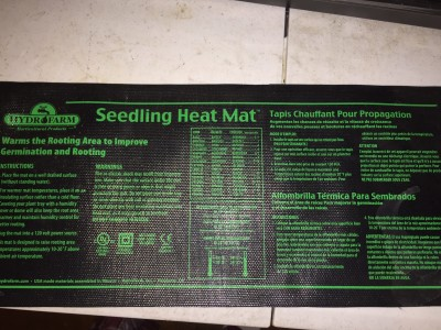 Heat mats provide the ideal temperature for germination of seeds